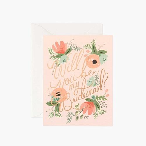 Blushing Bridesmaid Card