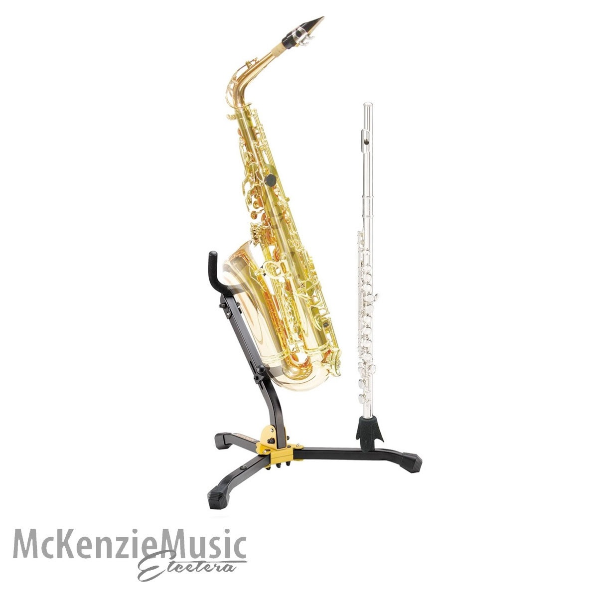 Hercules DS532BB Alto/Tenor Sax Stand with Clar/Flute Peg