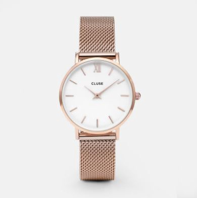 Cluse Watch CL30013 Minuit Small Face Rose Gold Mesh