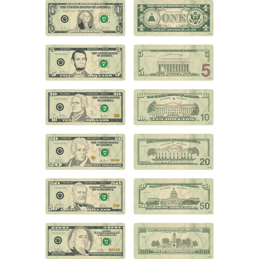 X TCR 5338 MONEY CUTOUTS: BILLS