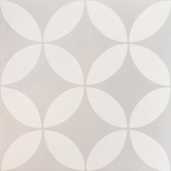 Handmade Tile | Light Grey Almond Flowers Mosaic