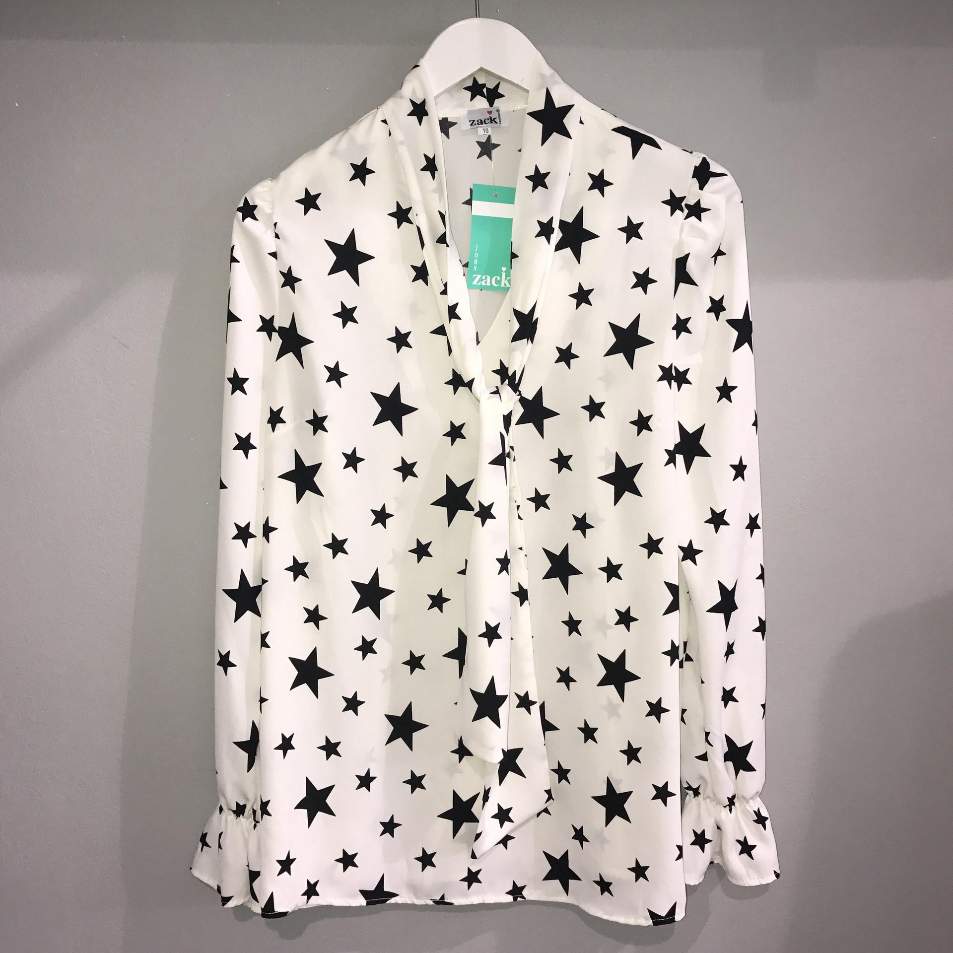 Zack White Star Blouse