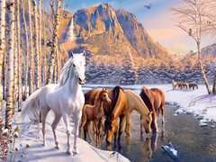 WINTER HORSES PUZZLE 200 PCS
