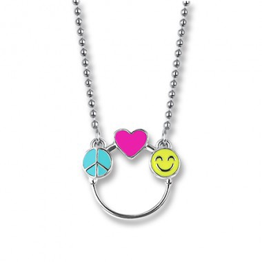 CHARM IT - PEACE, LOVE & HAPPINESS CHARM CATCHER NECKLACE