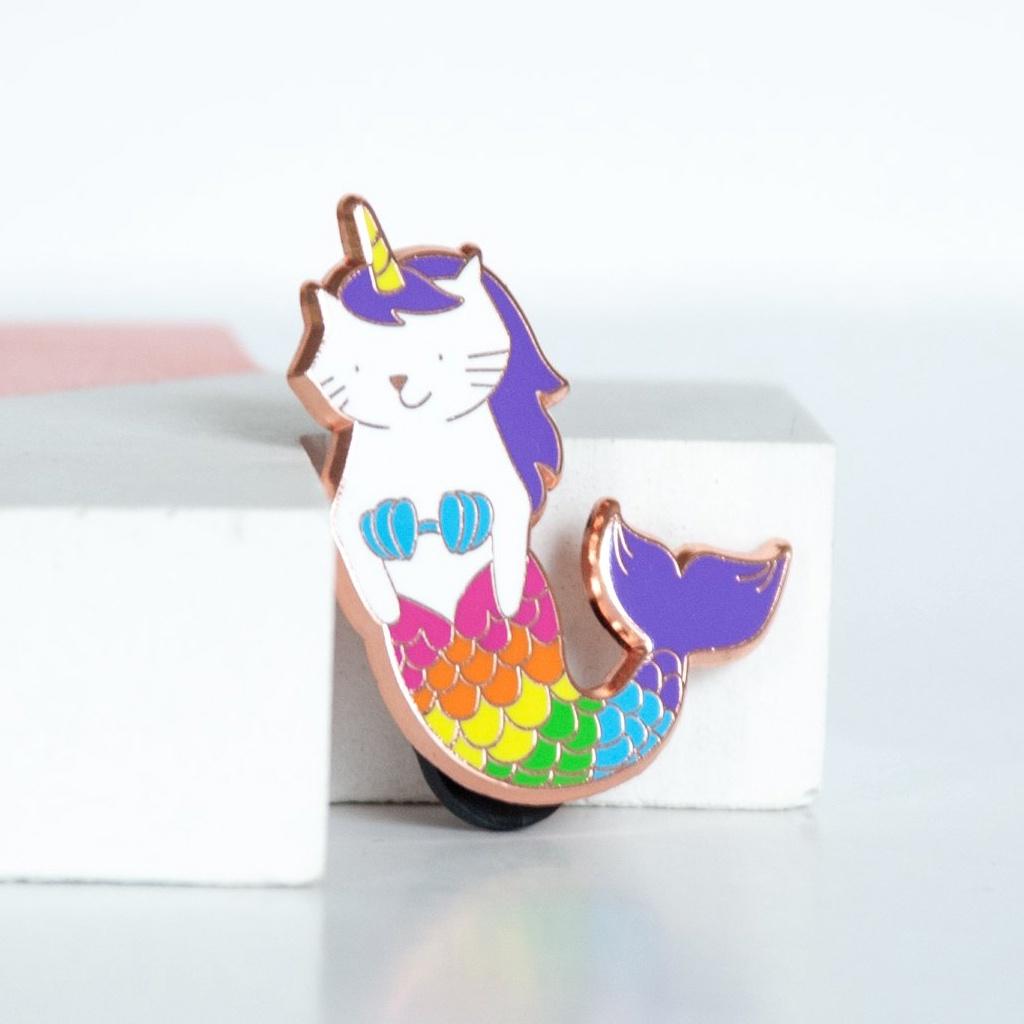 Cat Mermaid Unicorn Enamel Pin