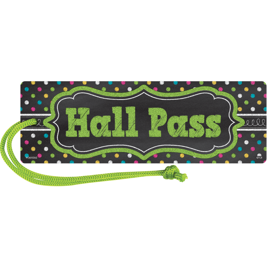 TCR 77276 CHALKBOARD BRIGHTS MAGNETIC HALL PASS