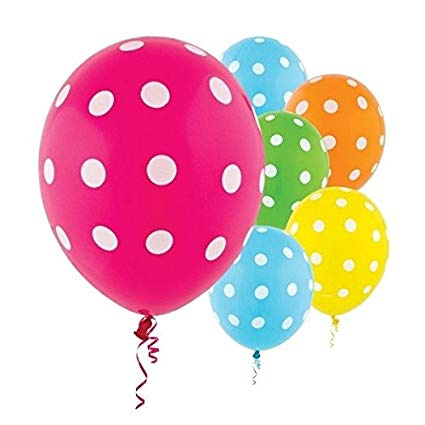 POLKA DOT BRIGHTS MIX LATEX BALLOON