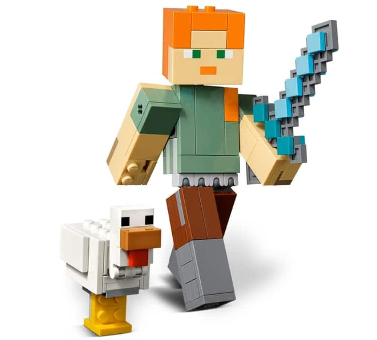 MINECRAFT BIGFIG ALEX WITH CHICKEN