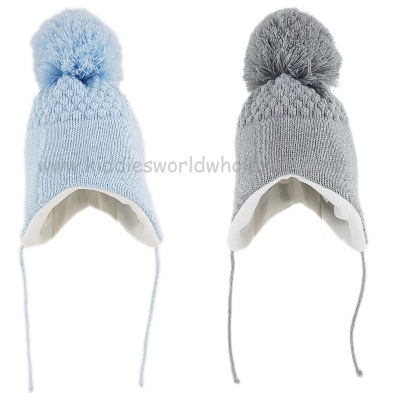 Baby Boys Honeycomb Knit Nepalese Hat (0-6 Months)
