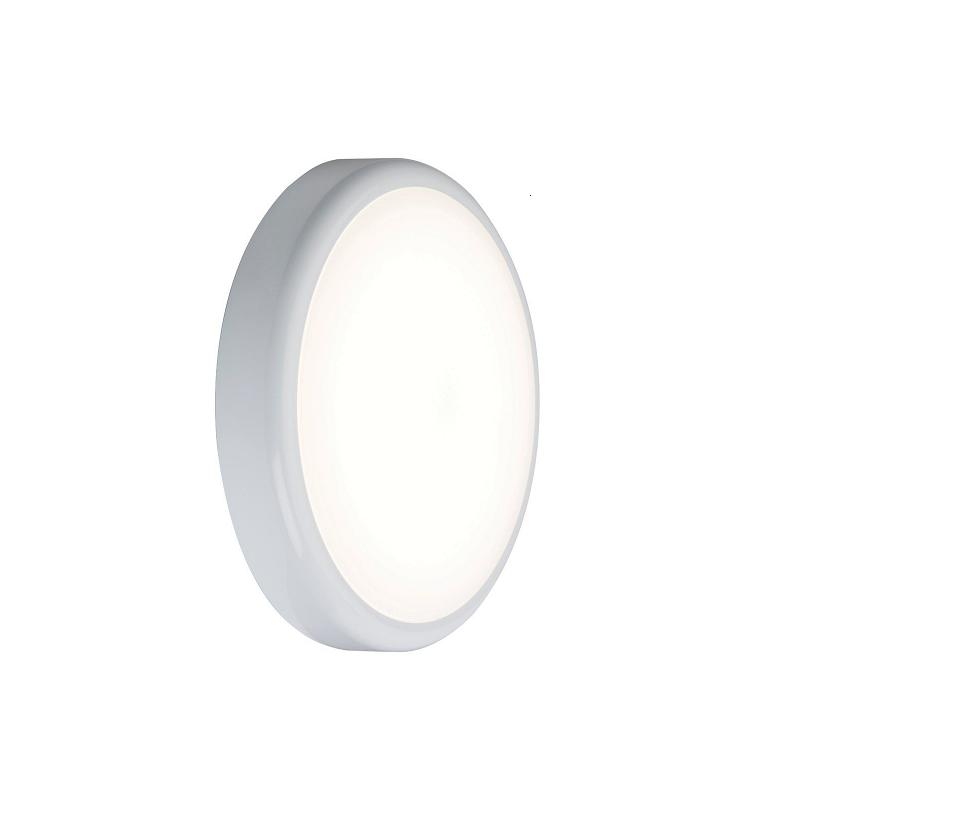 230V IP44 9W Trade LED Flush with Sensor 6000K (256mm)