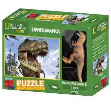 3D PUZZLE TYRANNOSAURUS 100 PCS W/FIGURE