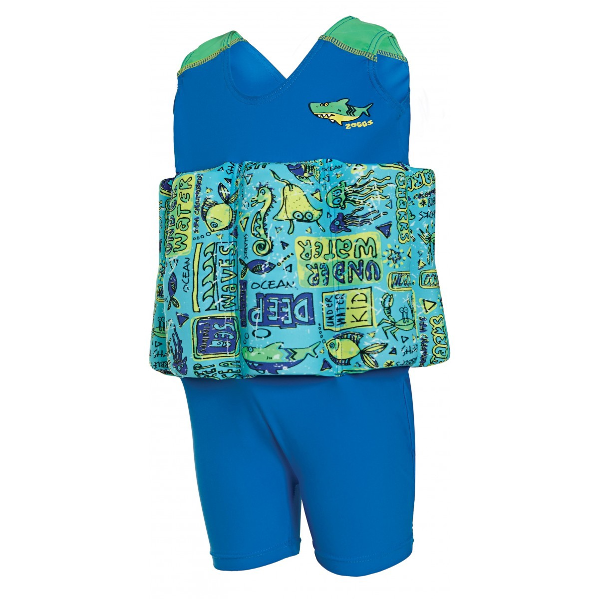 LEARN TO SWIM FLOATSUIT BLUE 1-2 YRS