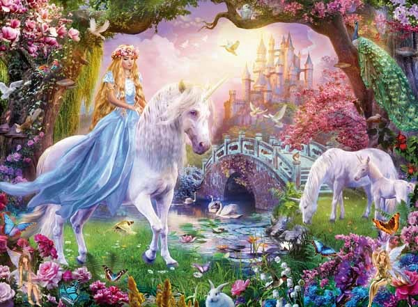MAGIC UNICORN PUZZLE 100 PCS