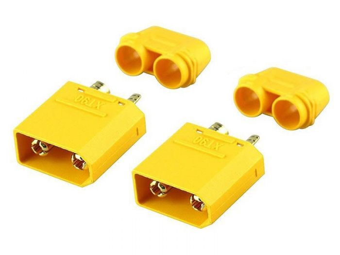 RCPRO #XT90  XT 90 M&F Plug Set  (1 male/1 Female)
