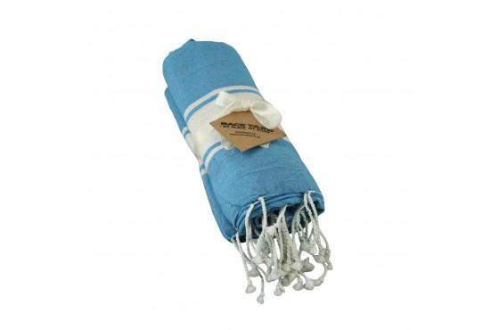 Cotton Towel Light Blue wide band