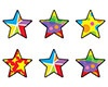 T 46082 STAR MEDLEY SHAPES STICKERS