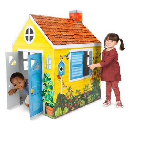 M&D Cardboard Indoor Playhouse - Cottage