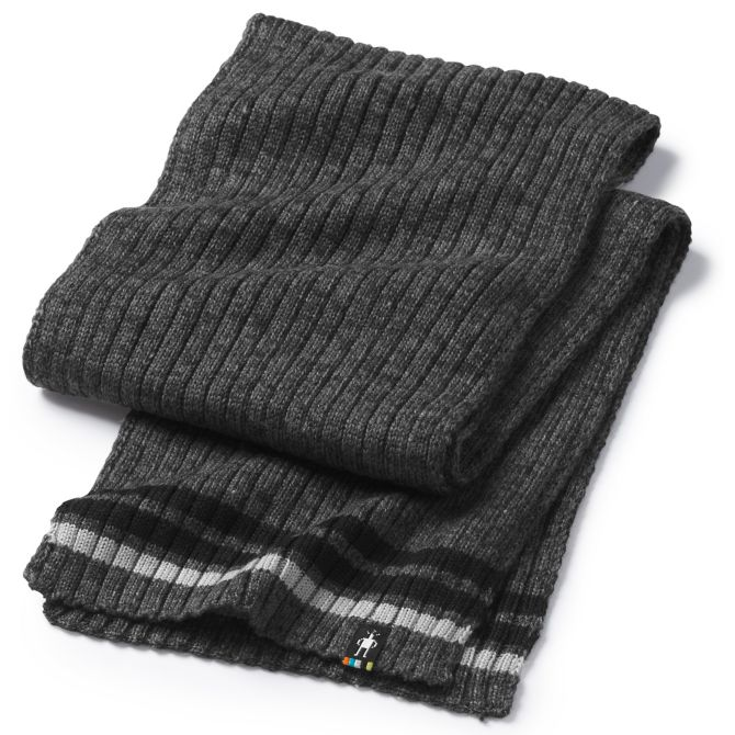 SMARTWOOL - THUNDER CREEK SCARF IN MEDIUM GRAY HEATHER