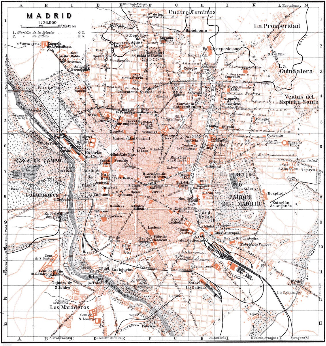Madrid Map | Print Only