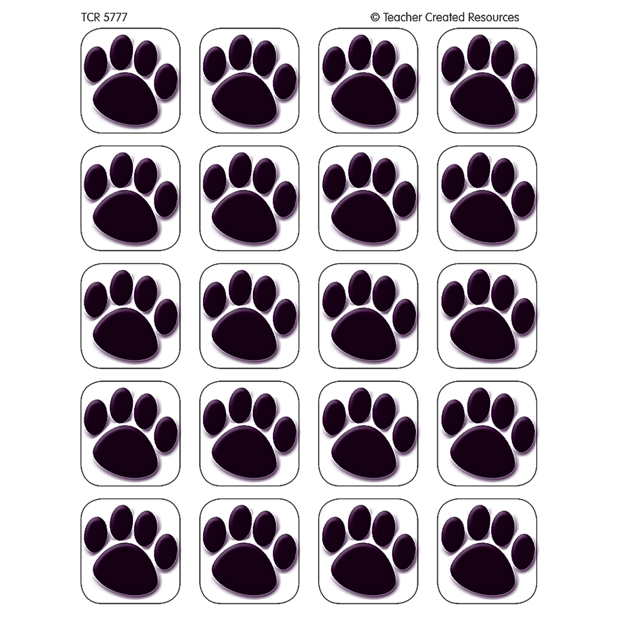 TCR 5777 BLACK PAW PRINT STICKERS