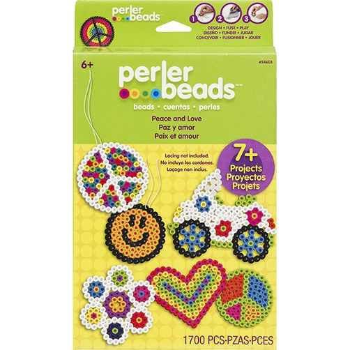 PERLER FUN FUSION FUSED BEAD KIT PEACE AND LOVE