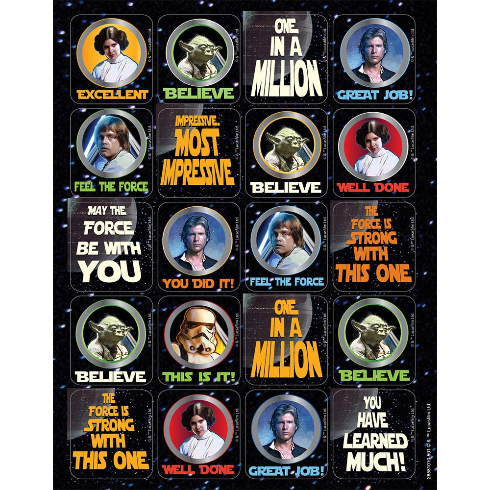EU 658101 STAR WARS STICKERS