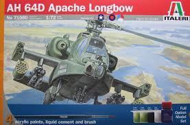 Italeri #71080 1/72 AH-64D Apache Longbow Starter Set