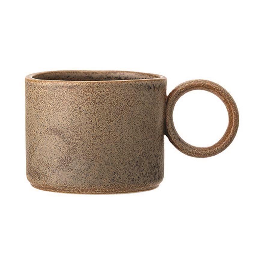 Matte Brown Stoneware Mug