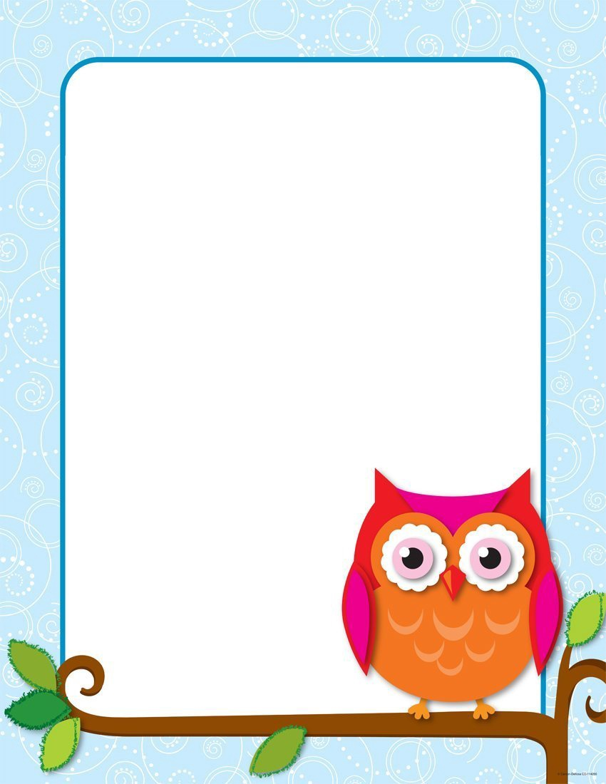 X DC CD 114200 COLORFUL OWLS BLANK CHART