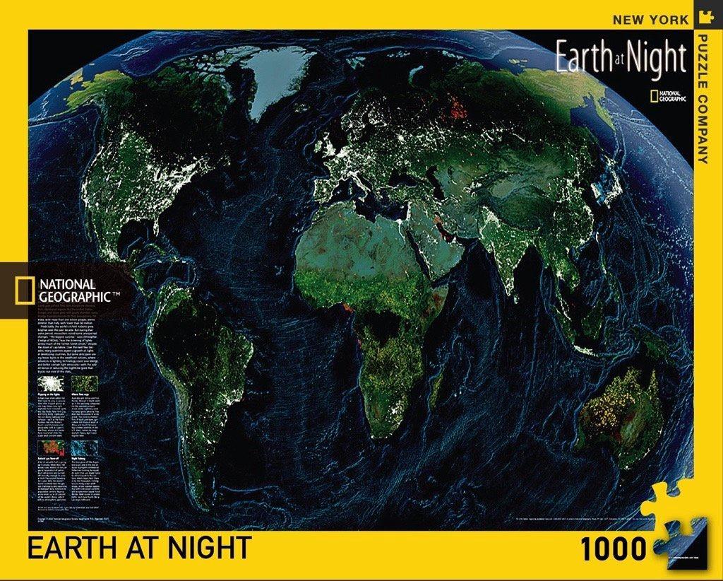 NAT GEO EARTH AT NIGHT