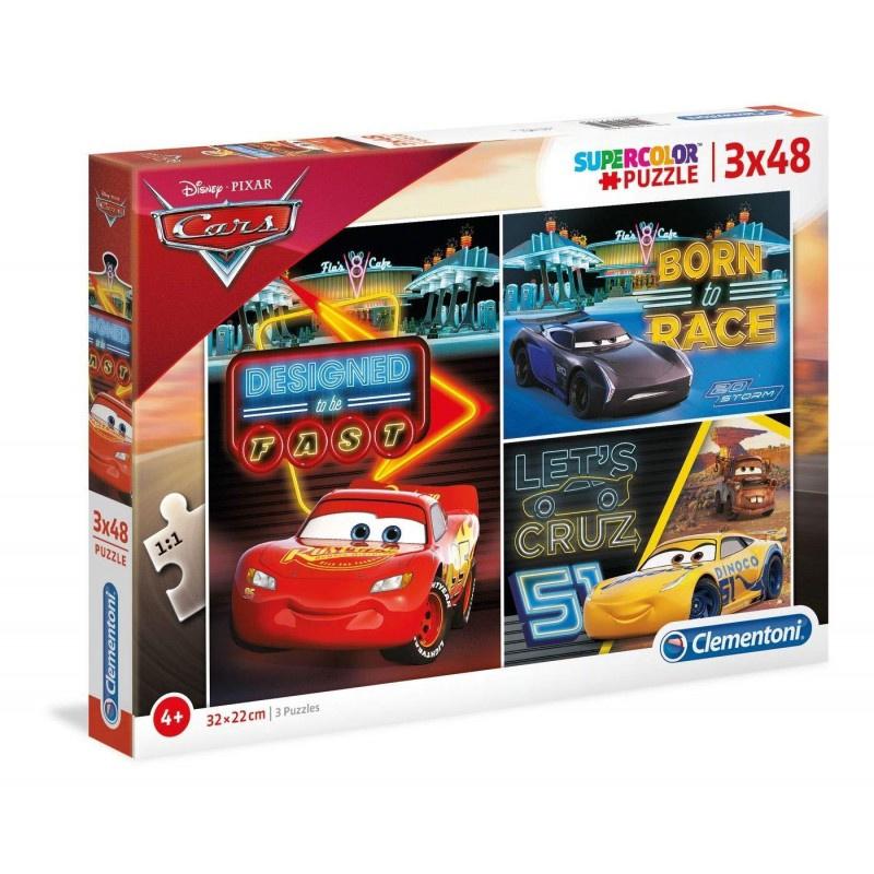 DISNEY CARS PUZZLE 3X48