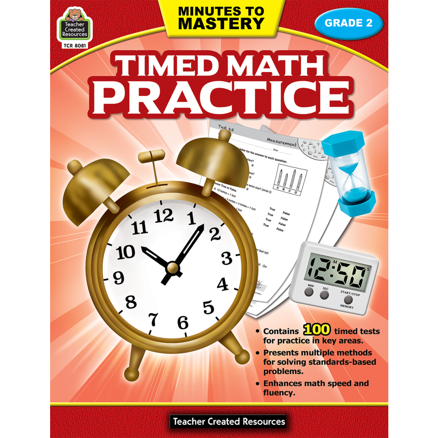 X TCR 8081 MINUTES TO MASTERY TIMED MATH G2