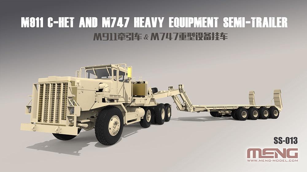 Meng #SS-013 1/35 U.S M911C-HET with M747 Semi Trailer