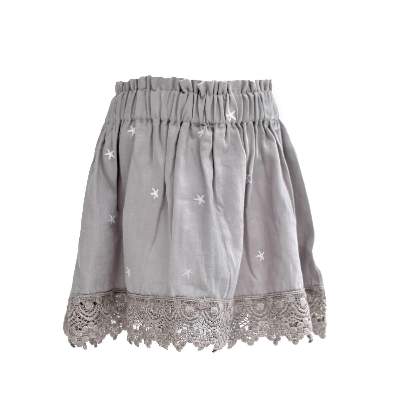 GREY STAR EMBROIDERED EVIE SKIRT