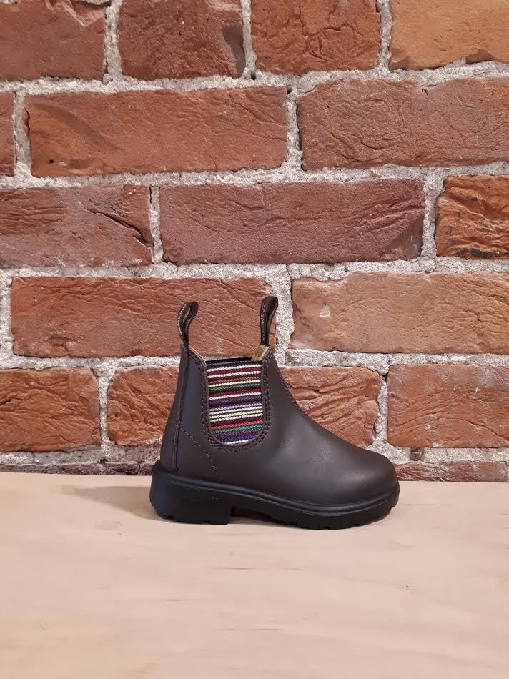 BLUNDSTONE - 1413 KIDS BLUNNIES IN STRIPED BROWN