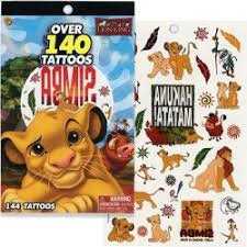 LION KING 4 SHEET TATTOO BOOK