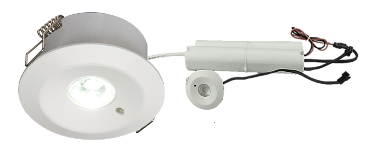 230V IP20 3W LED Emergency Downlight (maintained/non-maintained) 3000K