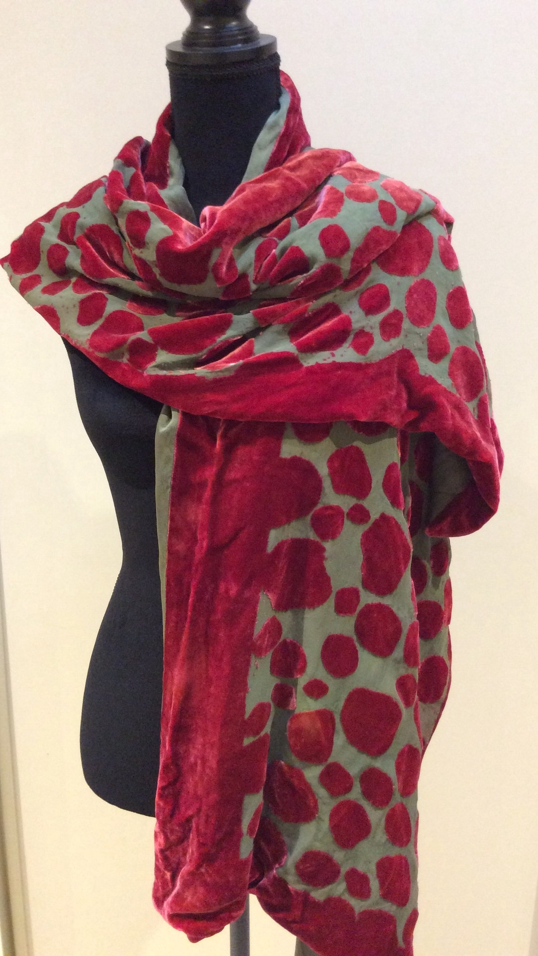 Silk Velvet Devore Lined and Reversible Wrap
