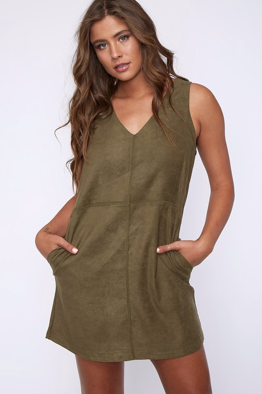 S/Less Suede Dress
