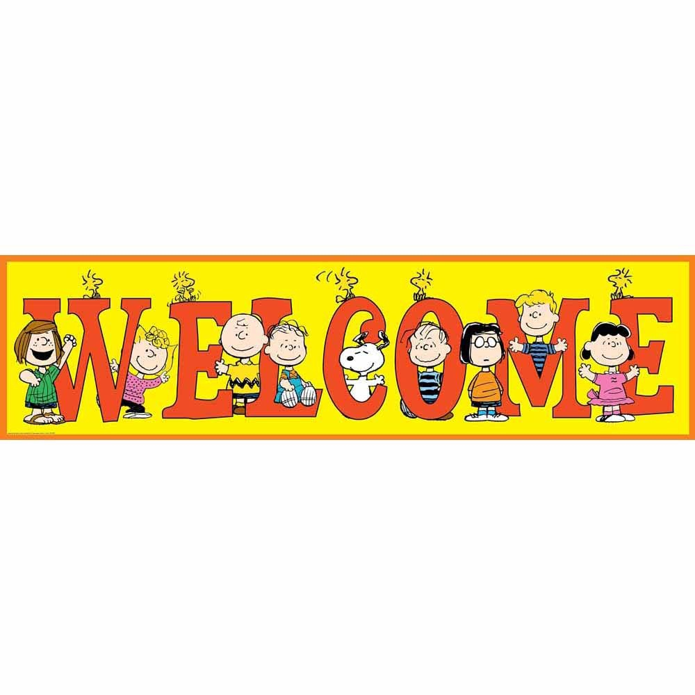 X EU 849742 4' BANNER PEANUTS WELCOME