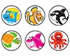 T 46197 SEA BUDDIES SPOTS STICKERS
