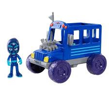 PJ MASKS TURBO BLAST RACERS NIGHT NINJA BUS