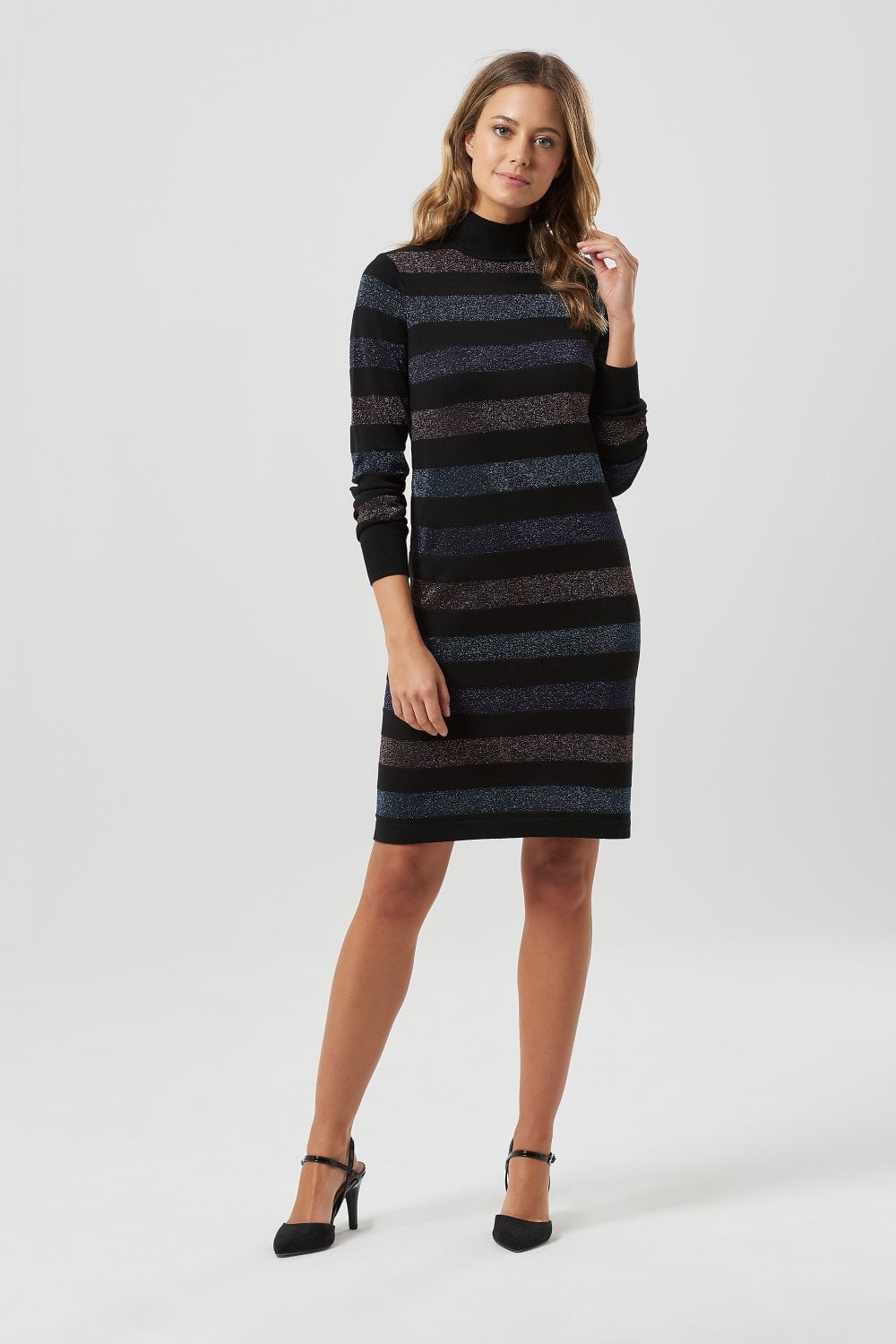 Sabrina Lurex Stripe Knit Dress by Sugarhill Brighton