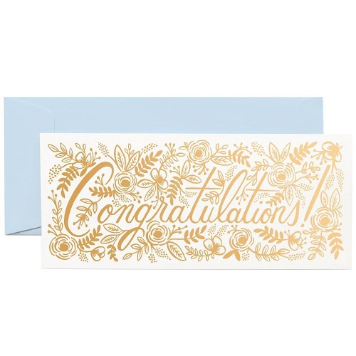 Champagne Floral Congrats No. 10 Card
