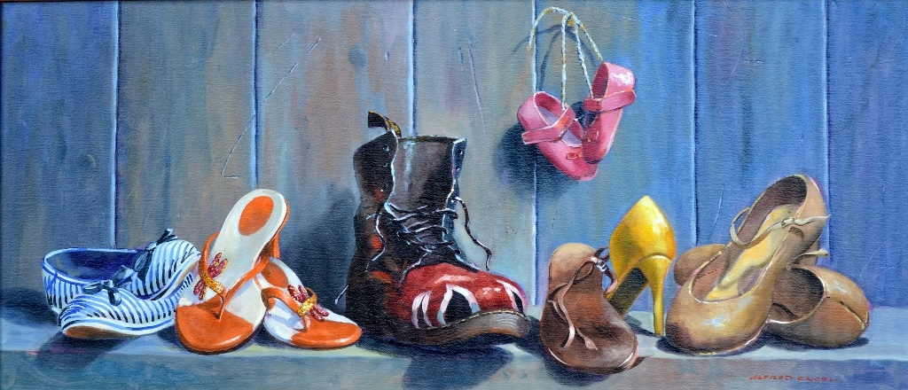 Shoe - In Oil Painting by Alfred Engel 845mm x 390mm