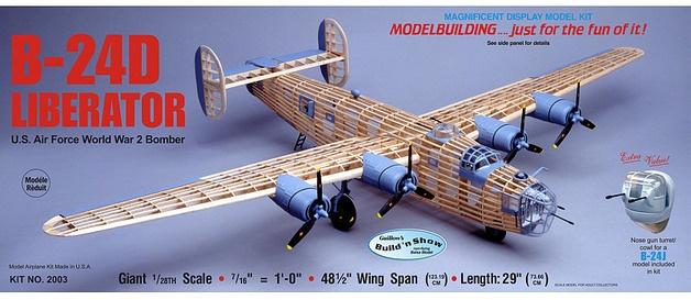 Guillow's #2003 1/28 B-24D Liberator