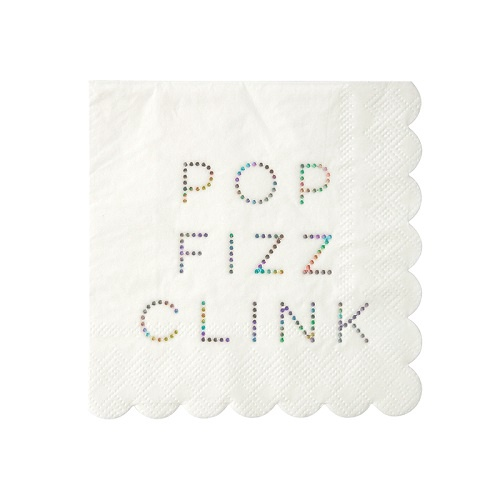 Pop Fizz Clink Small Holographic Napkin