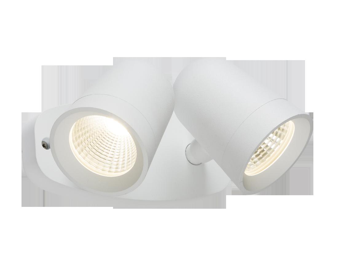 230V IP65 18W LED White Twin Spot Floodlight