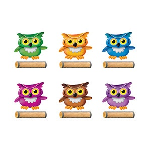 T 10652 BRIGHT OWLS CUTOUTS VAR PK