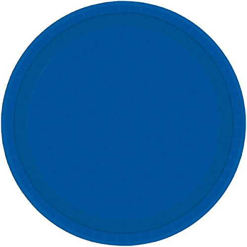 BRIGHT ROYAL BLUE 9 INCH PLATES